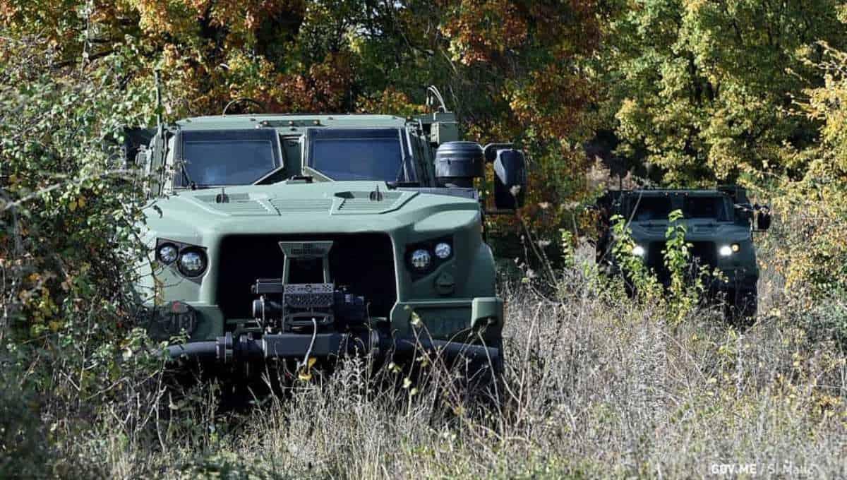 Чорногорія отримала бронемашини JLTV. Бронемашини JLTV Чорногорії від Oshkosh Defence. Жовтень 2020. Фото: МО Чорногорії