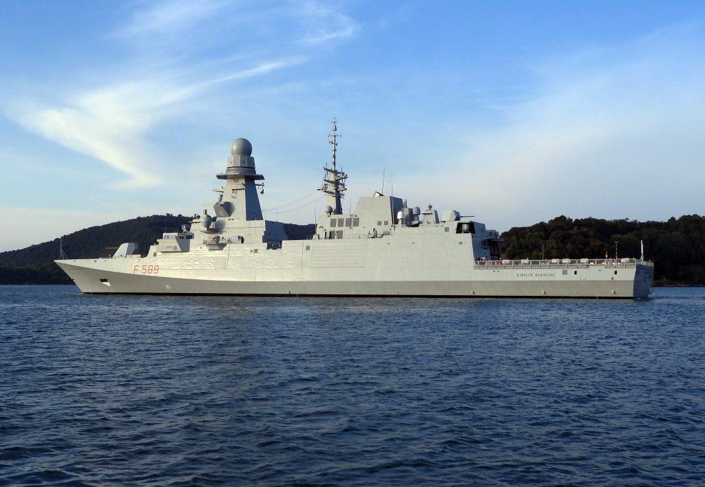 Корабель F589 Emilio Bianchi типу FREMM. Фото з відкритих джерел