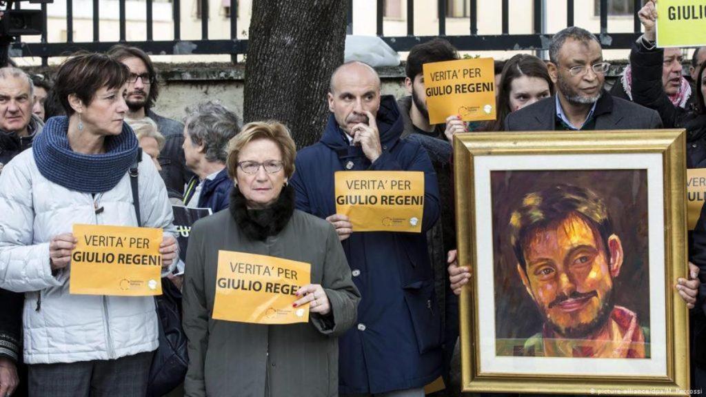 Пікет по справі розслідування смерті Джуліо Реджені. Фото з відкритих джерел