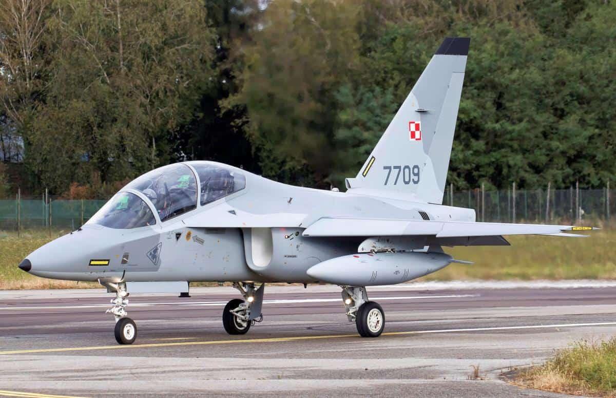 M-346 «Master» («Bielik») з бортовим номером 7709. Жовтень 2020. Фото: МО Польщі