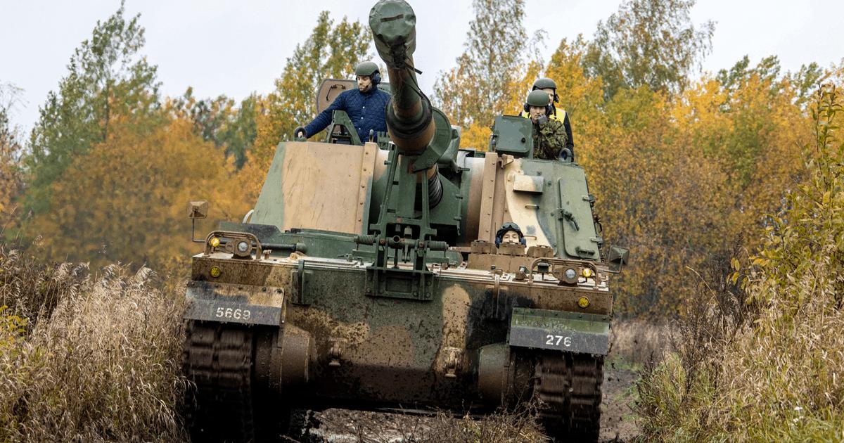 Самохідні гаубиці К9 Thunder Естонії. Жовтень 2020. Фото: МО Естонії