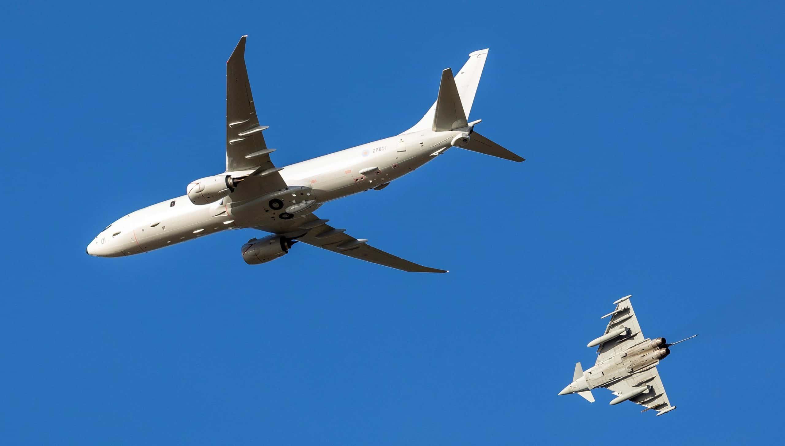 P-8A «Poseidon» ZP801 (MRA1) ПС Великої Британії. Лютий 2020. Фото: З відкритих джерел