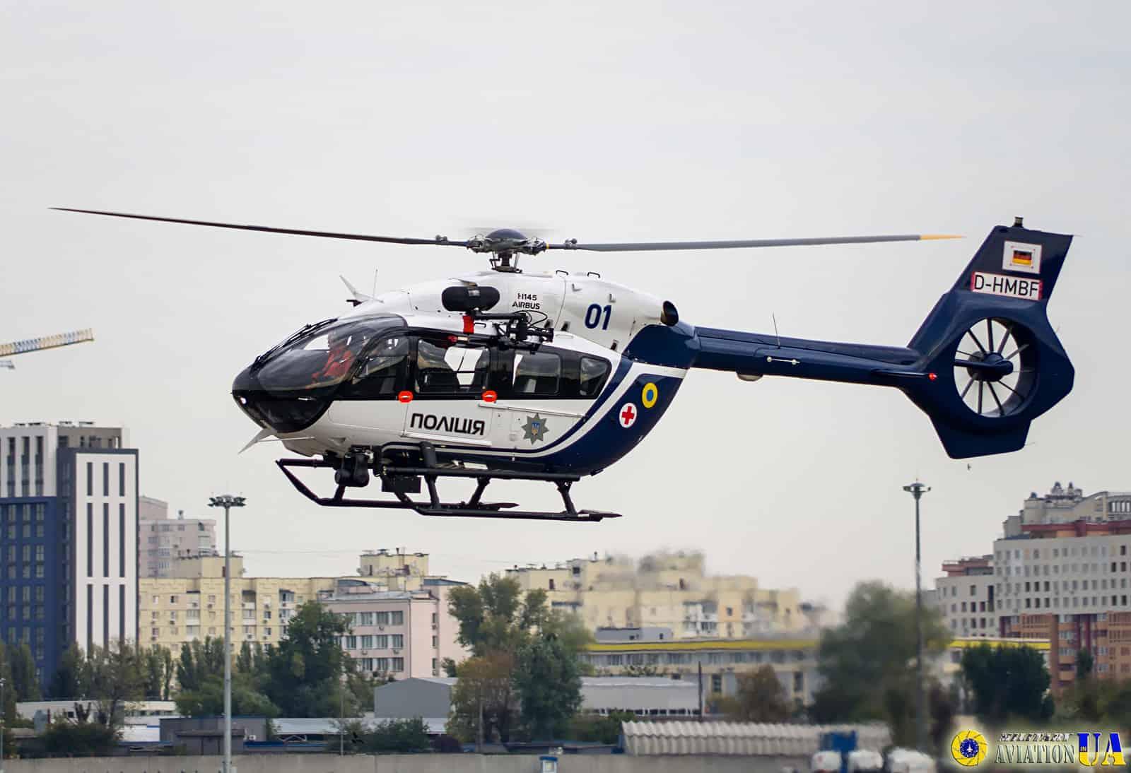 На Черкащині побудують ангари для вертольотів H145. Вертоліт Airbus Helicopters H145 для МВС Фото: militaryaviation.in.ua