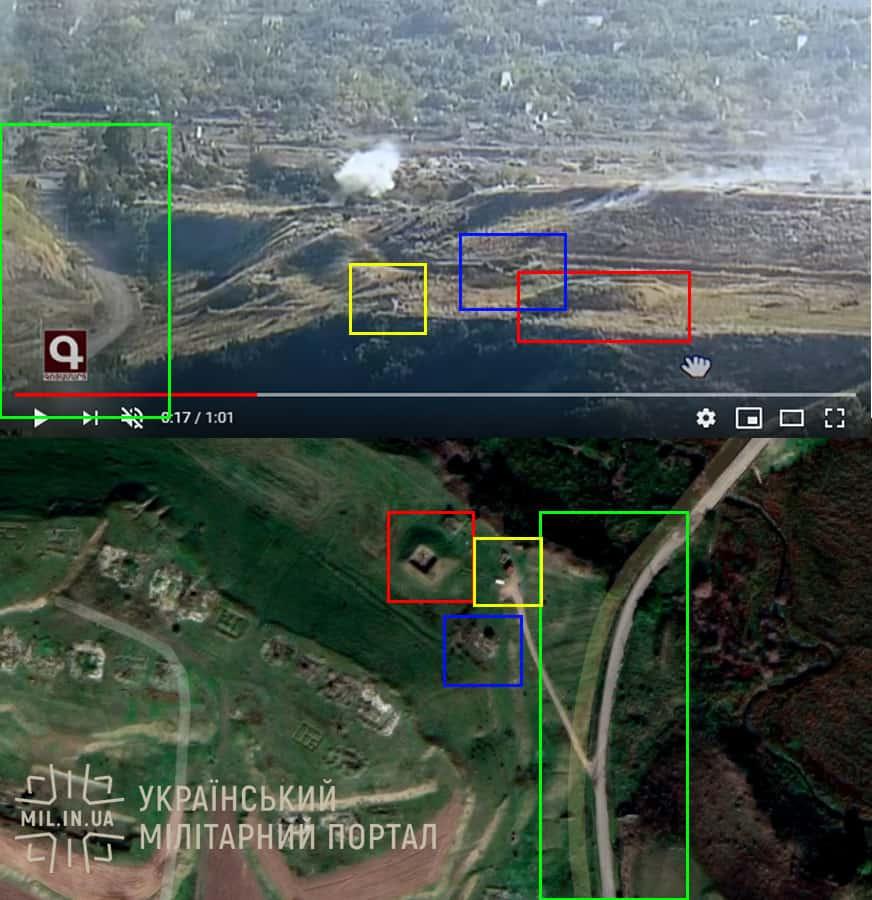 Ідентифікація місця зйомки обстрілу поблизу Фізулі