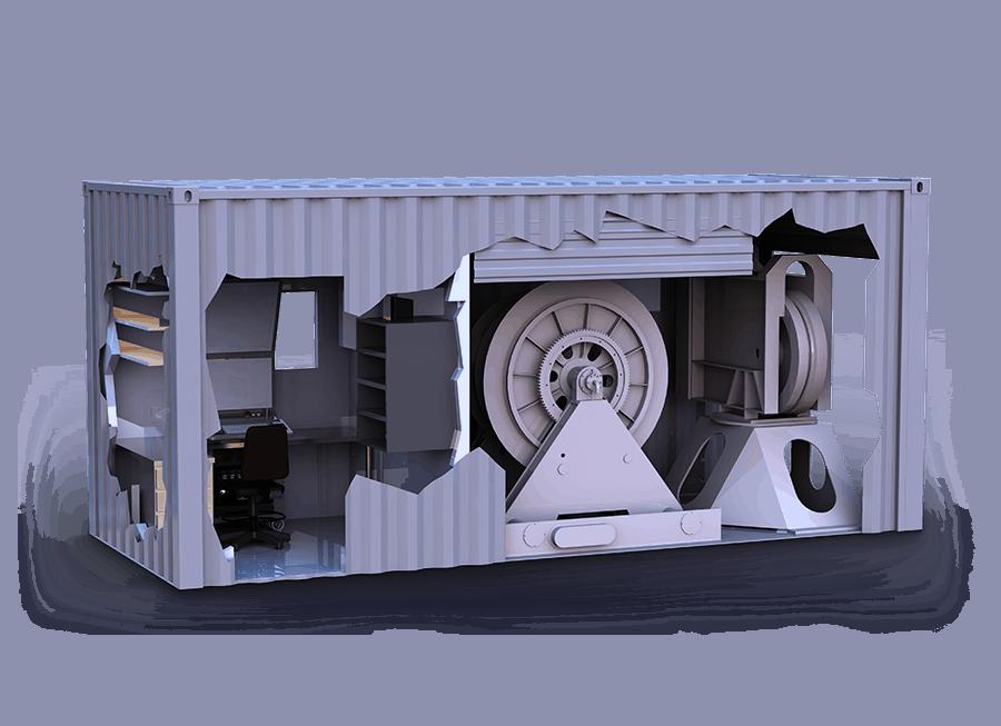 Компонування гідроакустичної станції TRAPS контейнерного типу