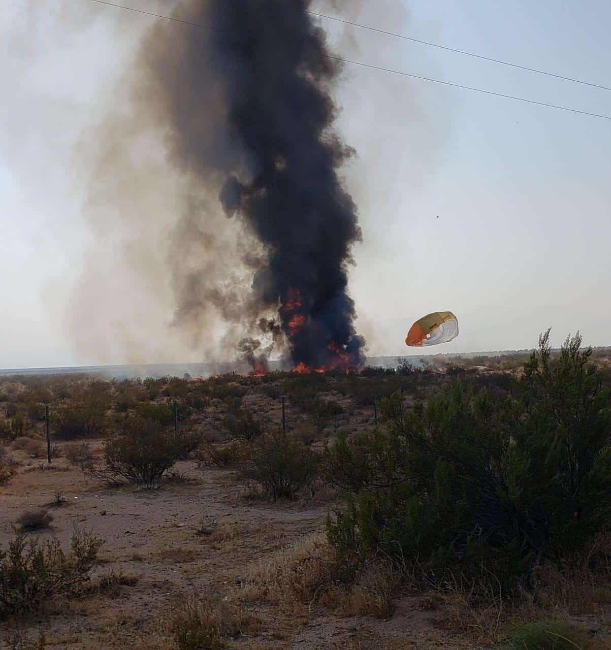 Місце падіння FA-18 та момент приземлення льотчика після катапультування