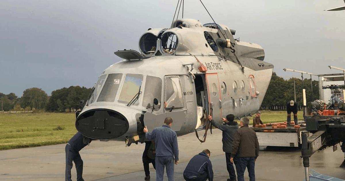Мі-171 Гани після ремонту в Україні. Жовтень 2020. Фото: Spetstechnoexport