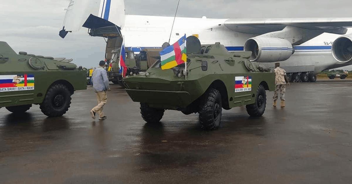 БРДМ-2 з Росії для ЦАР. Жовтень 2020. Фото: ЗМІ РФ/ЦАР