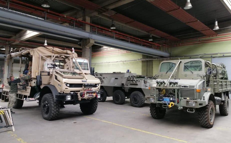Прототип Jankel LTTV та UNIMOG бельгійської армії