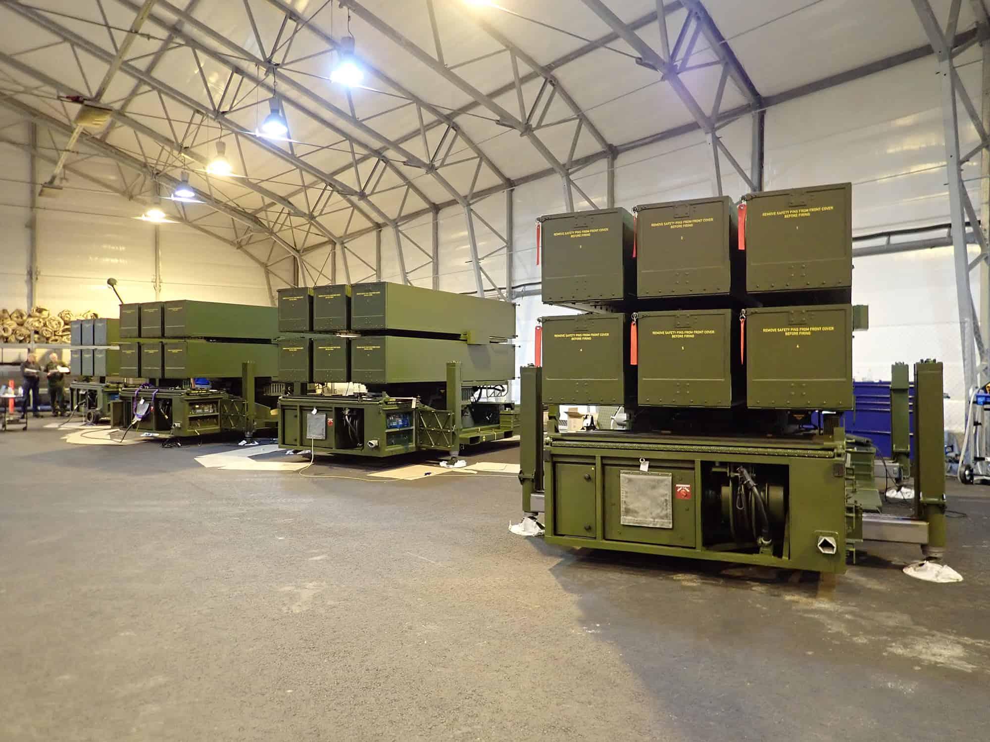 Пускові установки ЗРК NASAMS ЗС Литви