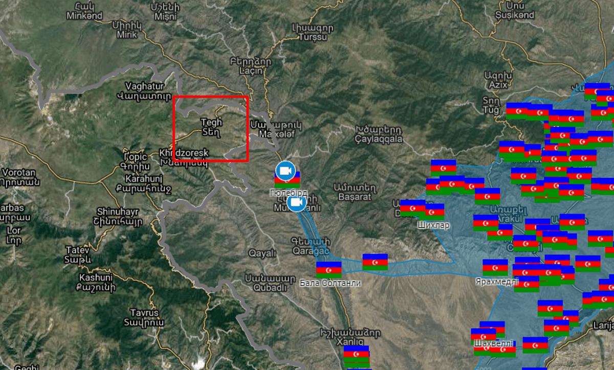 Військові Росії у Вірменії зайняли позицію на кордоні з Азербайджаном. Село Тех (Տեղ) у східній частині Сюнікській області