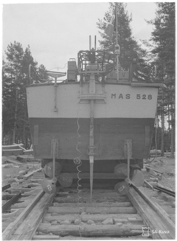 Спуск на воду катеру типу MAS