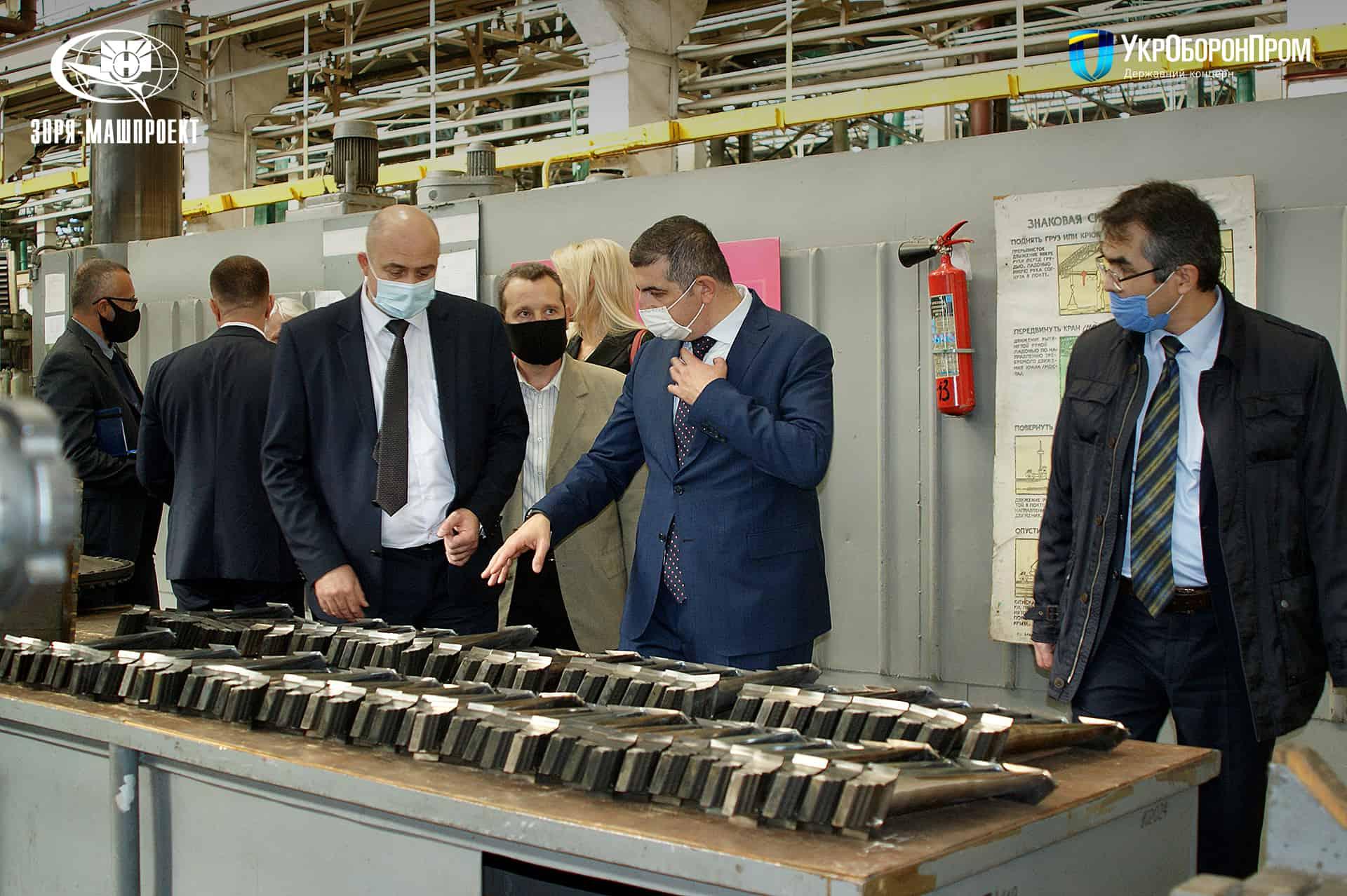 Турецька делегація на ДП НВКГ «Зоря»-«Машпроект». Жовтень 2020. Фото: «УКРОБОРОНПРОМ»