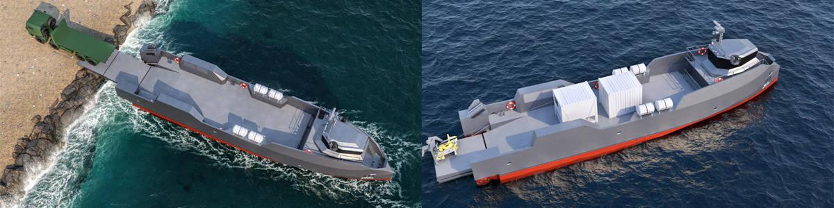 Висадка техніки та вантажу з багатофункціонального корабля LCX (Landing Craft X Missions)