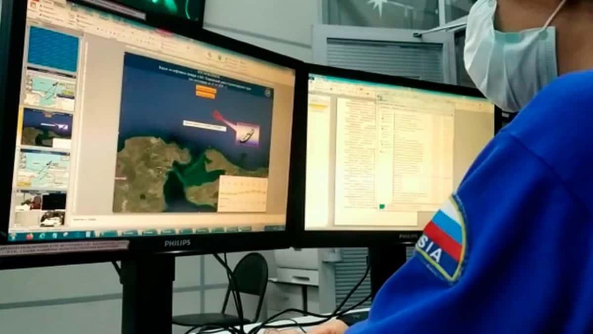 На російському танкері стався вибух. МНС Росії. Фото: ЗМІ РФ