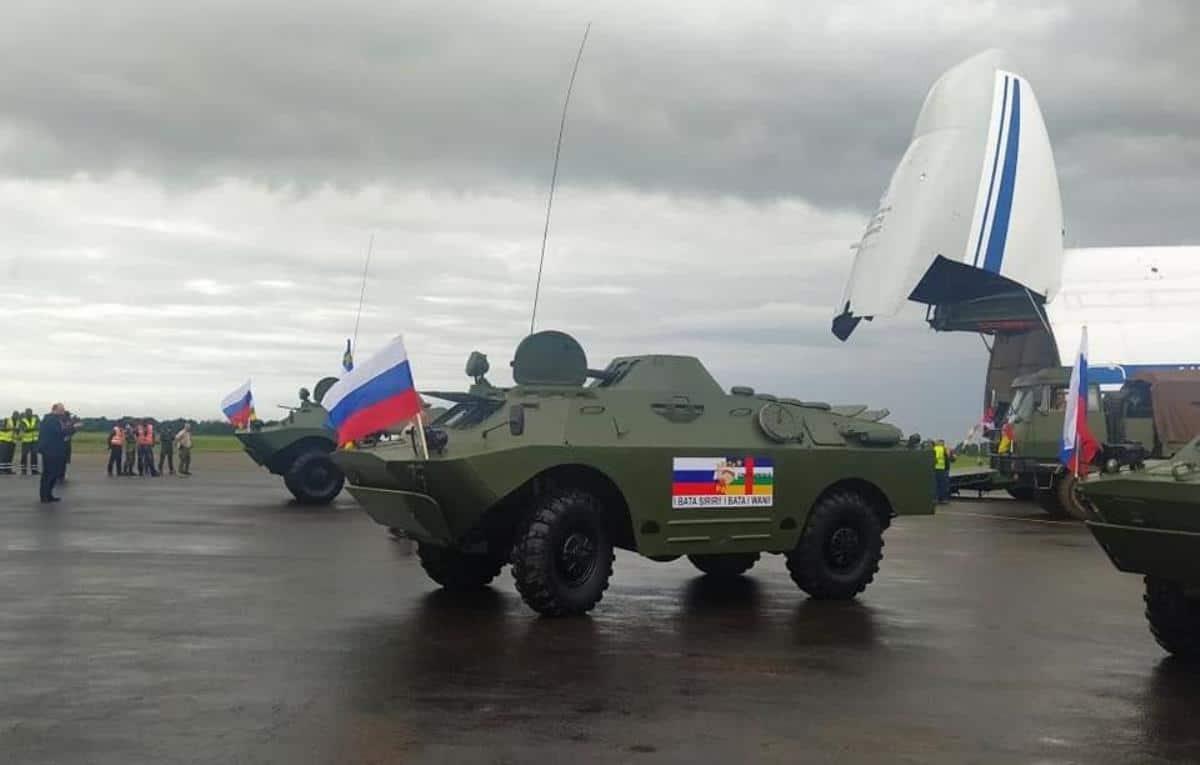 БРДМ-2 з Росії для Центральноафриканської Республіки. Жовтень 2020. Фото: ЗМІ РФ/ЦАР
