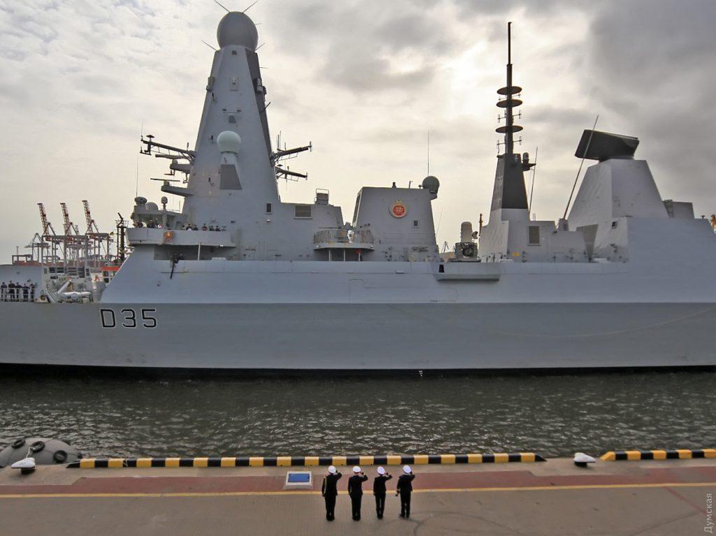 """Есмінець HMS Dragon (D35) в Одесі. Жовтень 2020. Фото: """"Думская"""""""