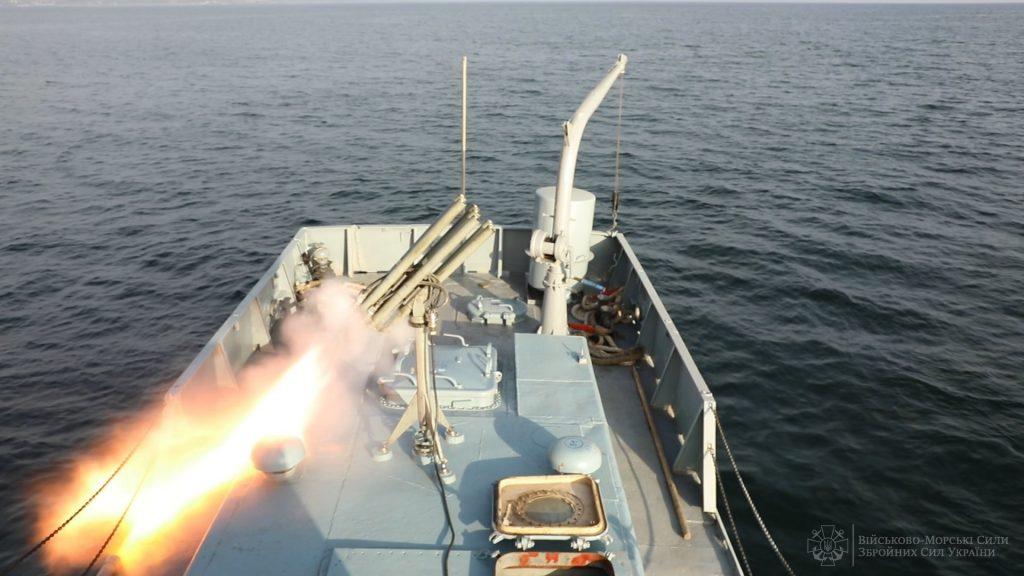 МРГ-1 на протидиверсійному катері під час навчань ВМС. Фото: ЗСУ