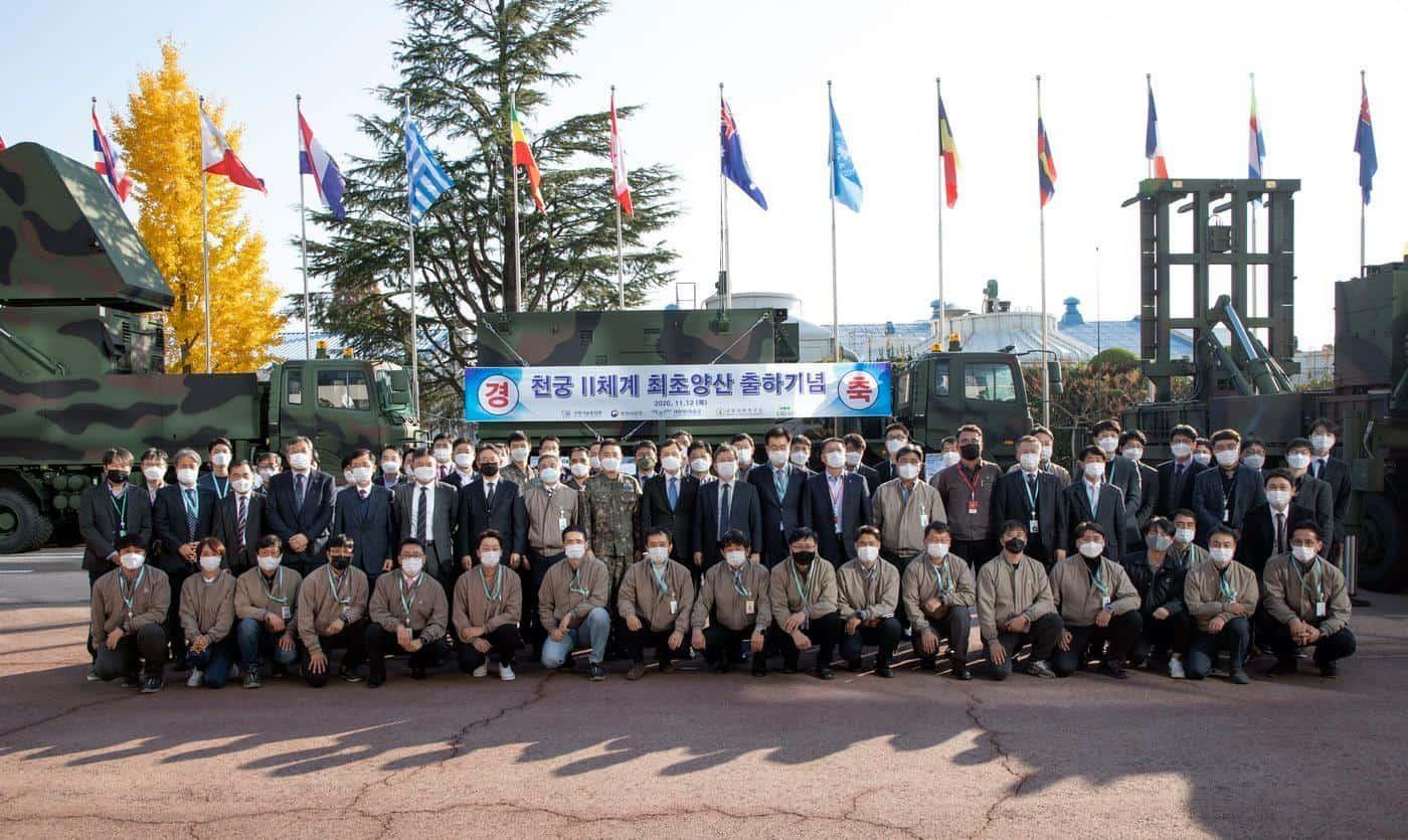 Передача першого комплексу M-SAM Збройним силам Кореї. Листопад 2020. Фото: DAPA