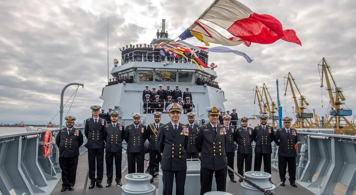 Команда корабля «Tabuk» проєкту OPV 1900 ВМС Пакистану. Фото: ЗС Пакистану