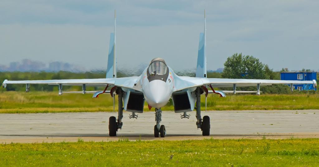 Винищувач Су-35С ПКС Росії побудований за держоборонзамовленням РФ 2019 року. Фото: ЗМІ РФ