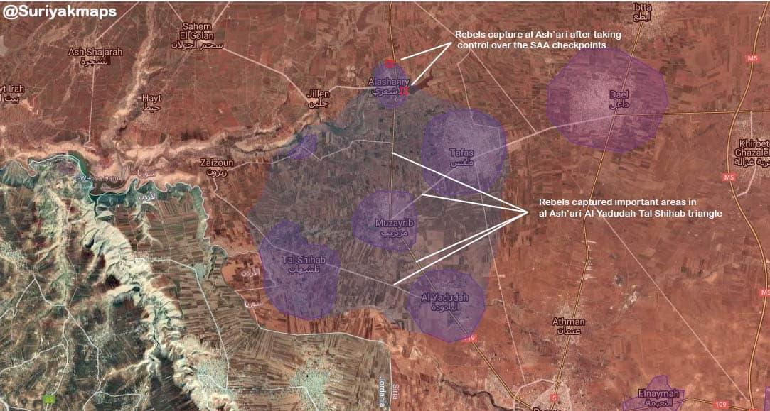 Контроль територій у провінції Дараа в Сирії