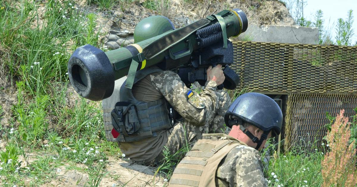 Український оператор ПТРК FGM-148 Javelin на навчаннях ЗСУ. Фото: МО України