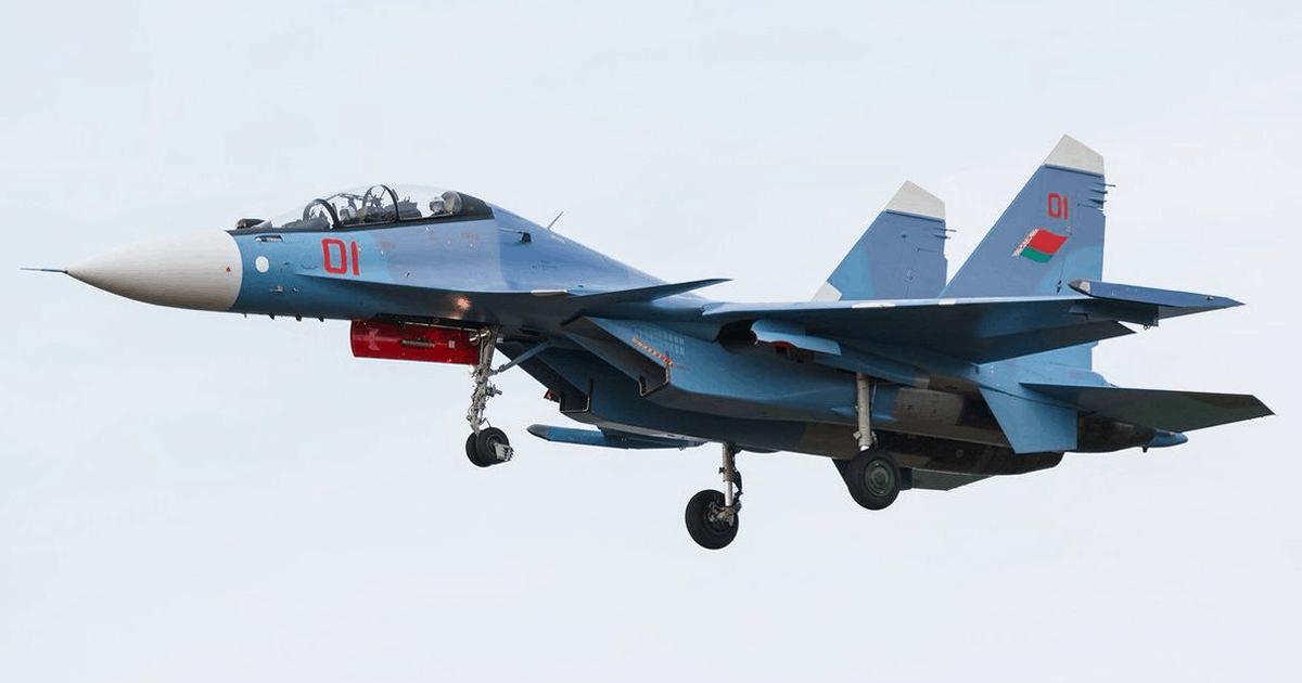 Винищувач Су-30СМ ВПС Білорусі. Фото з відкритих джерел