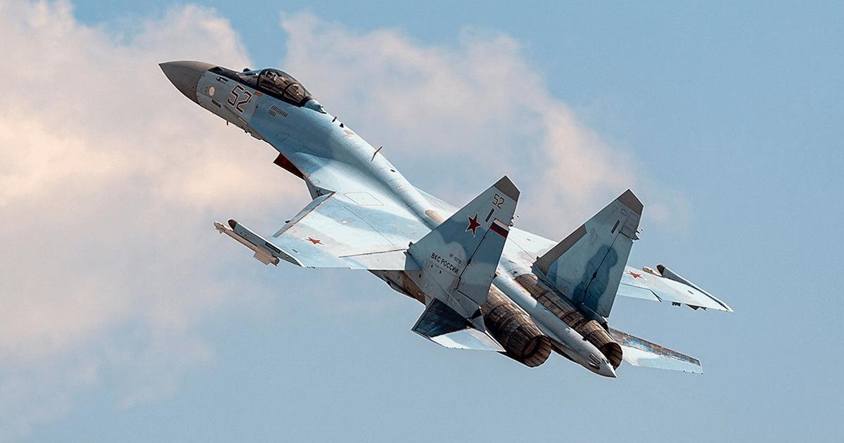 Винищувач Су-35С ПКС Росії. Фото: ЗМІ РФ