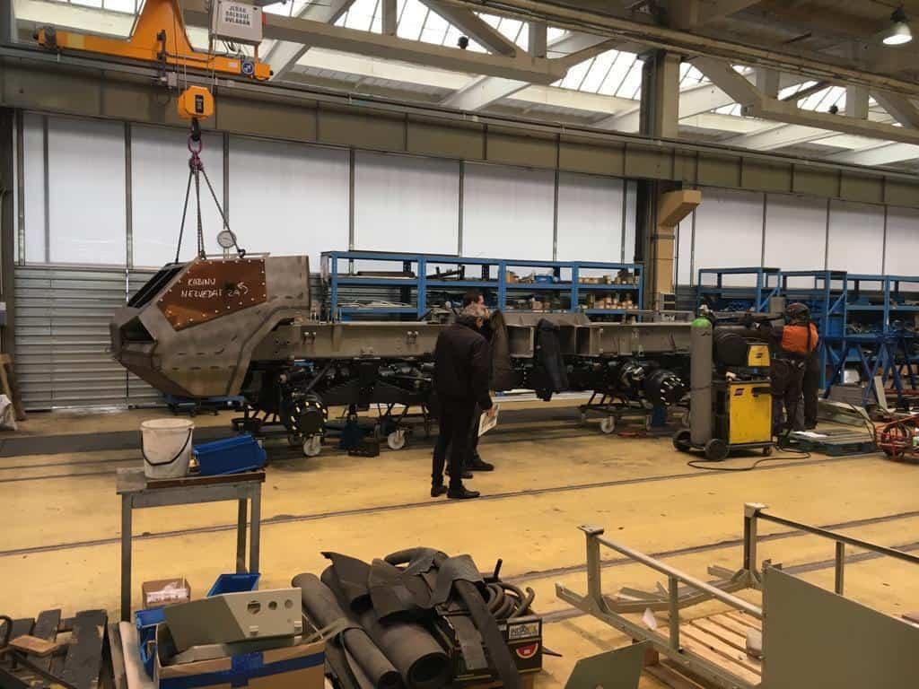 Процес виробництва САУ Dana-M2 у Чехії