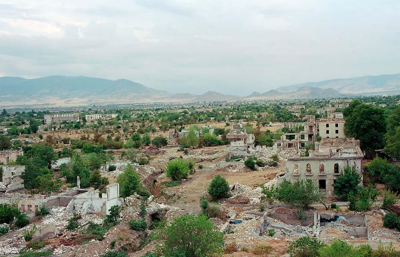 Руїни міста Агдам у Азербайджані