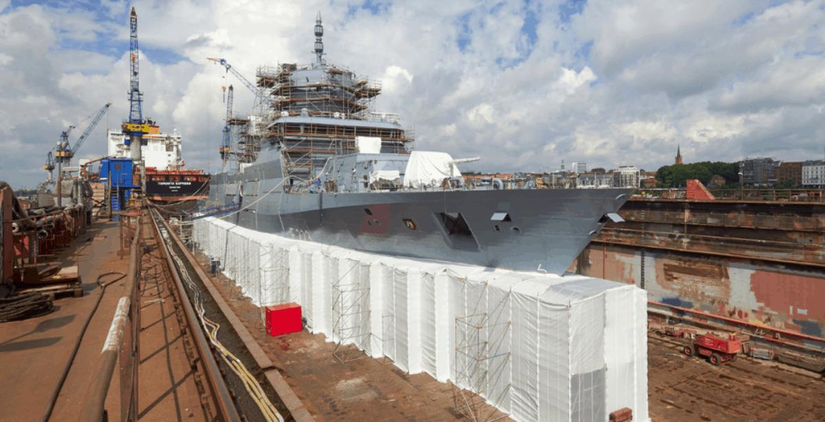 Будівництво корабля на верфі Lurssen у Німеччині. Фото з відкритих джерел