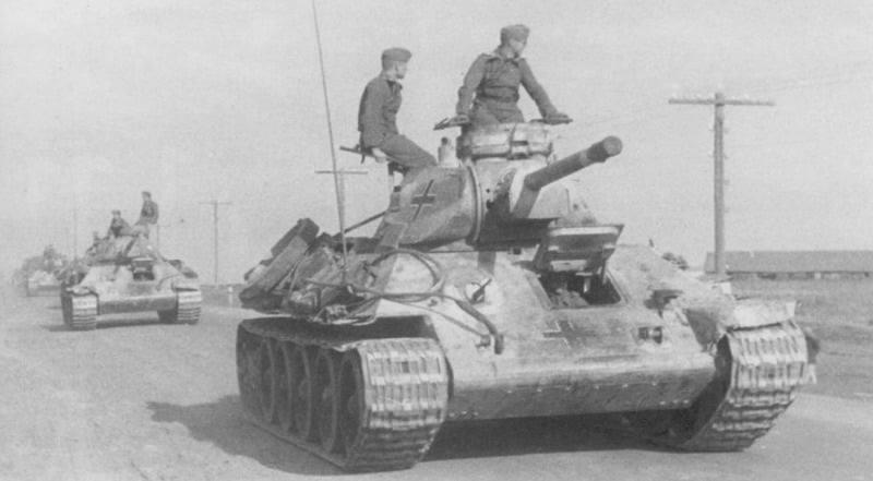 Трофейні радянські Т-34 на озброєнні Вермахту