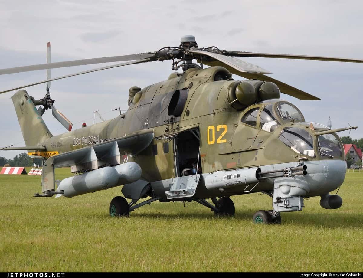 Ударний гелікоптер Мі-24 ПКС Росії у 2014 році
