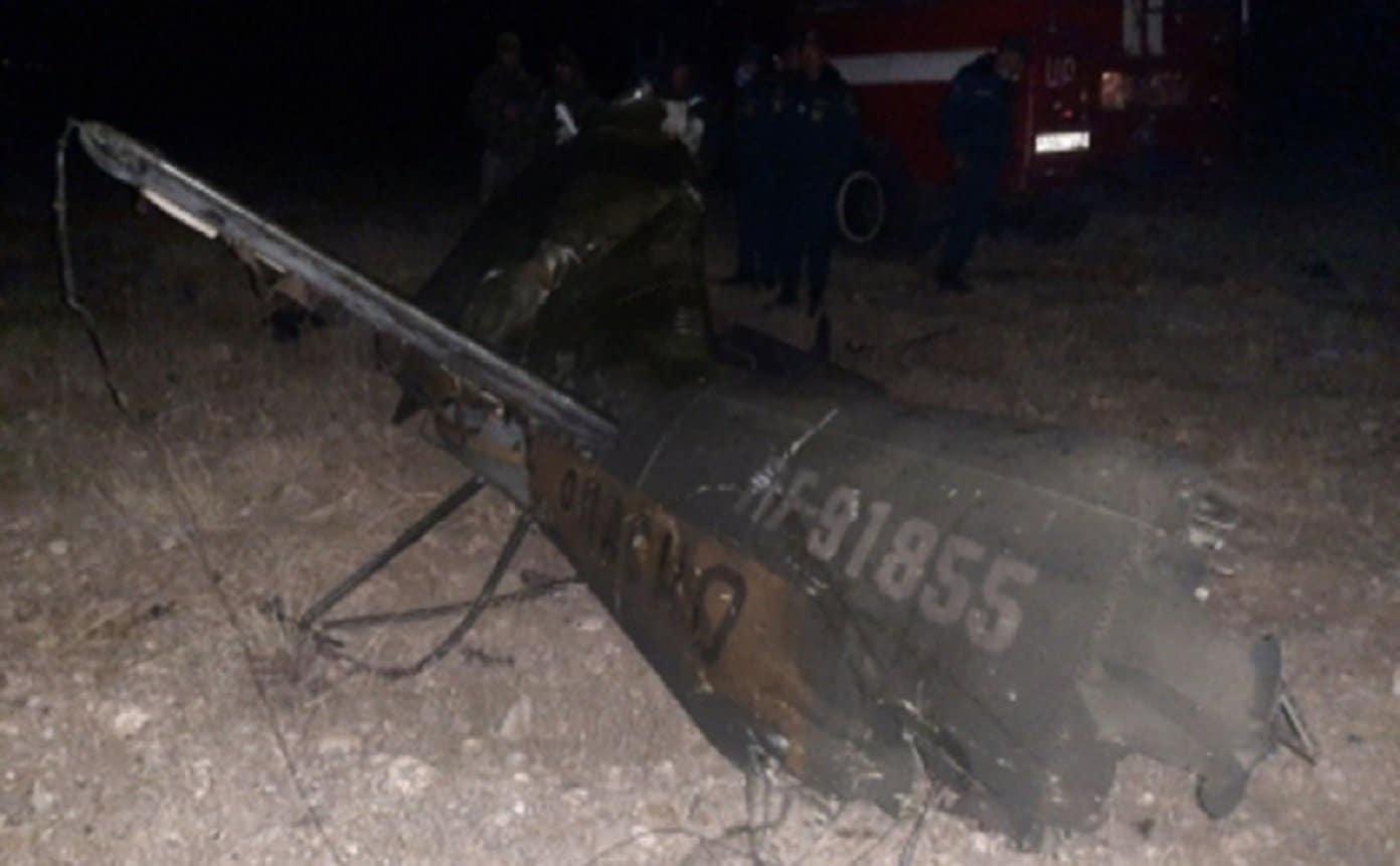 Уламки ударного гелікоптера Мі-24 збитого у Вірменії