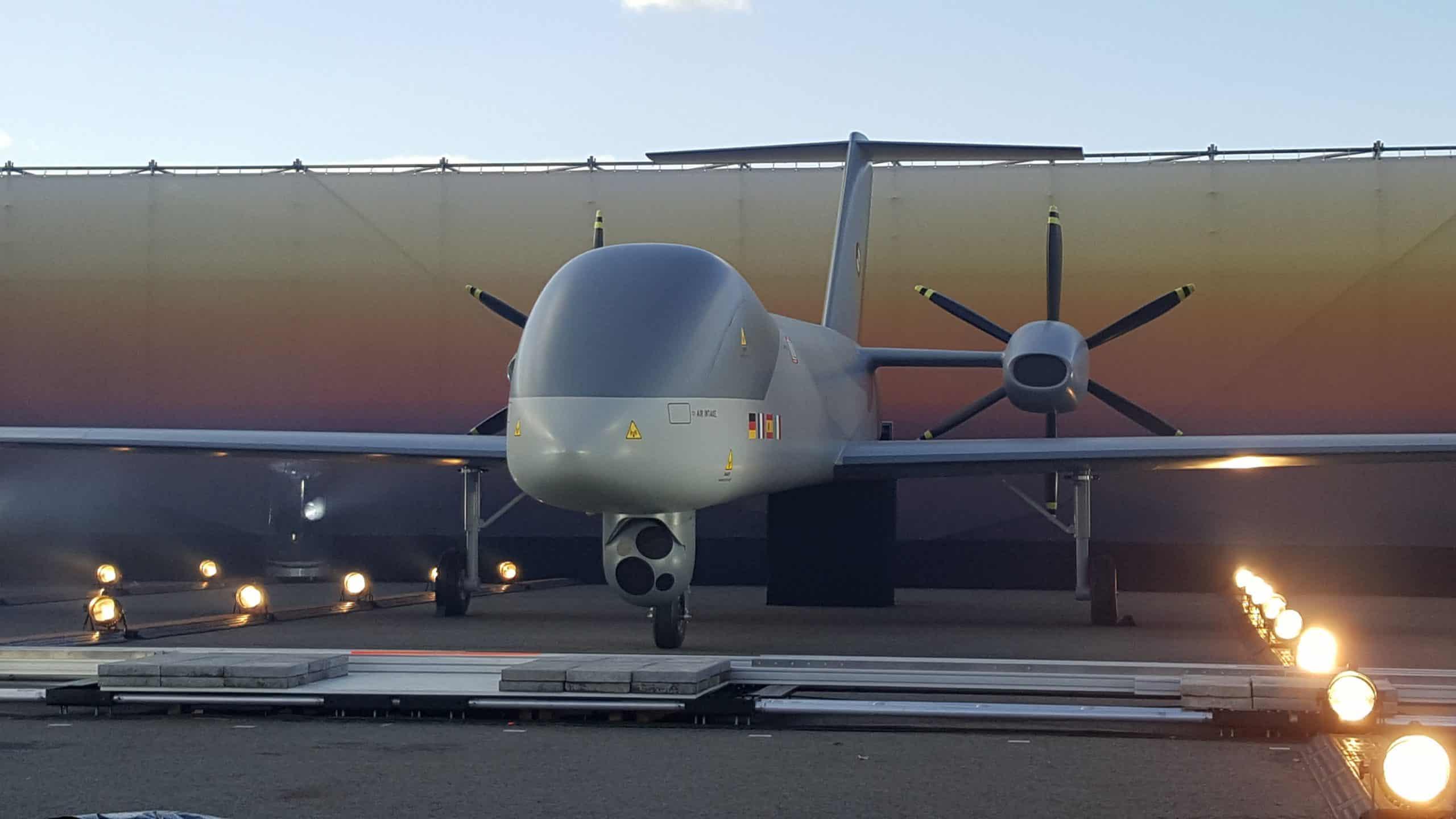Макет європейського безпілотника MALE RPAS. Фото: OCCAR