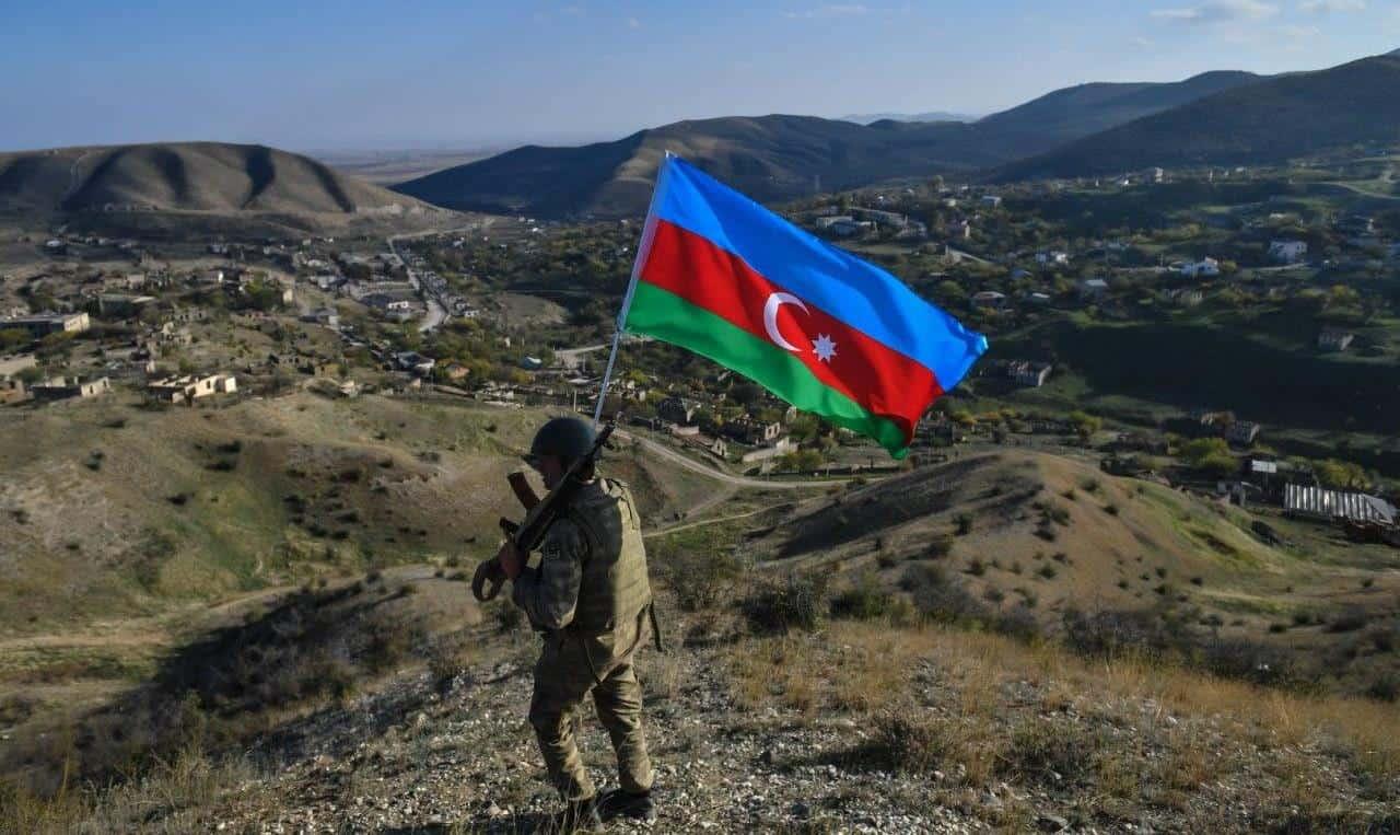 Військовий Азербайджану у зоні конфлікту. Листопад 2020. Фото: ЗМІ Азербайджану