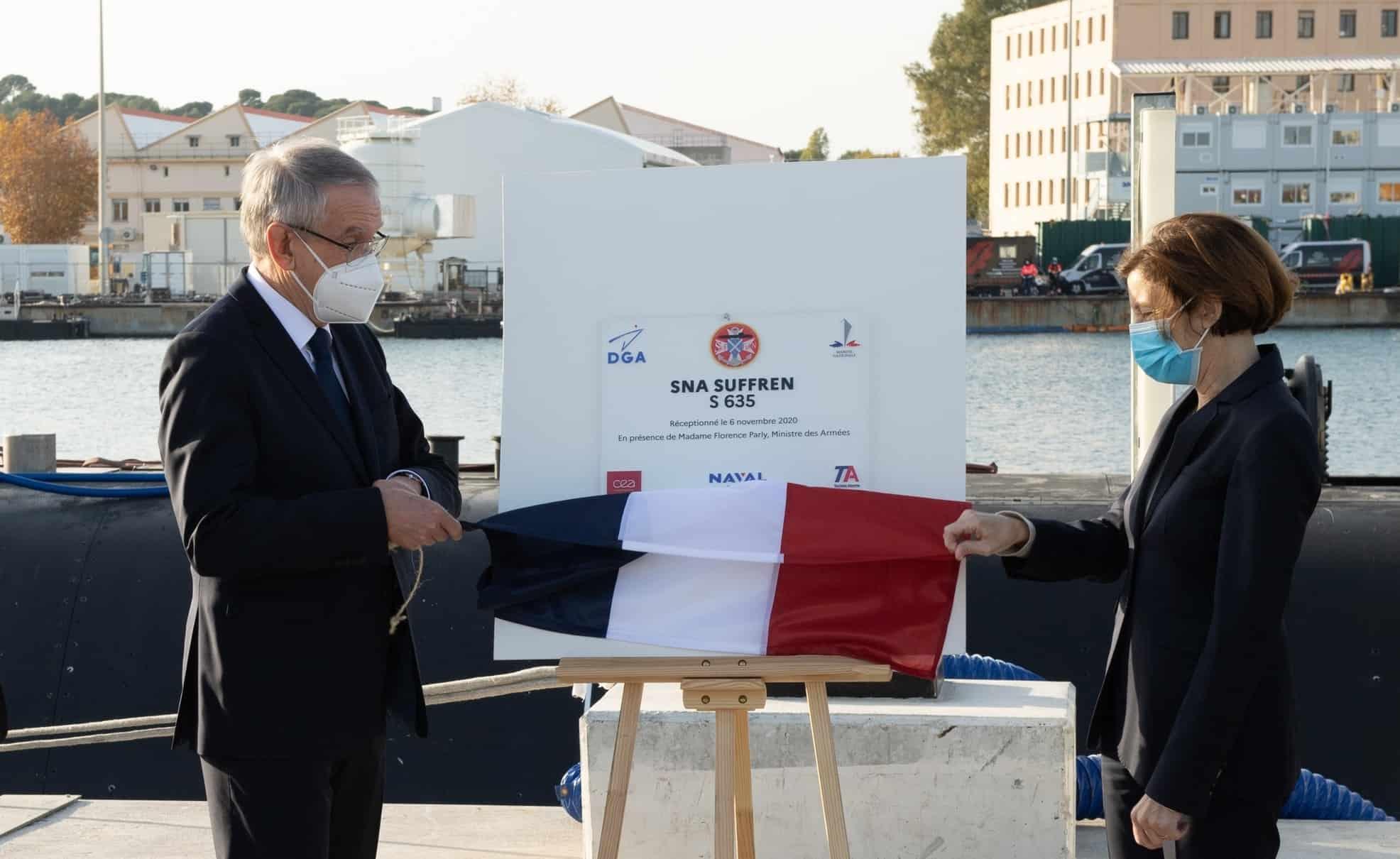 Офіційна церемонія передачі Suffren ВМС Франції. Листопад 2020. Фото: МО Франції
