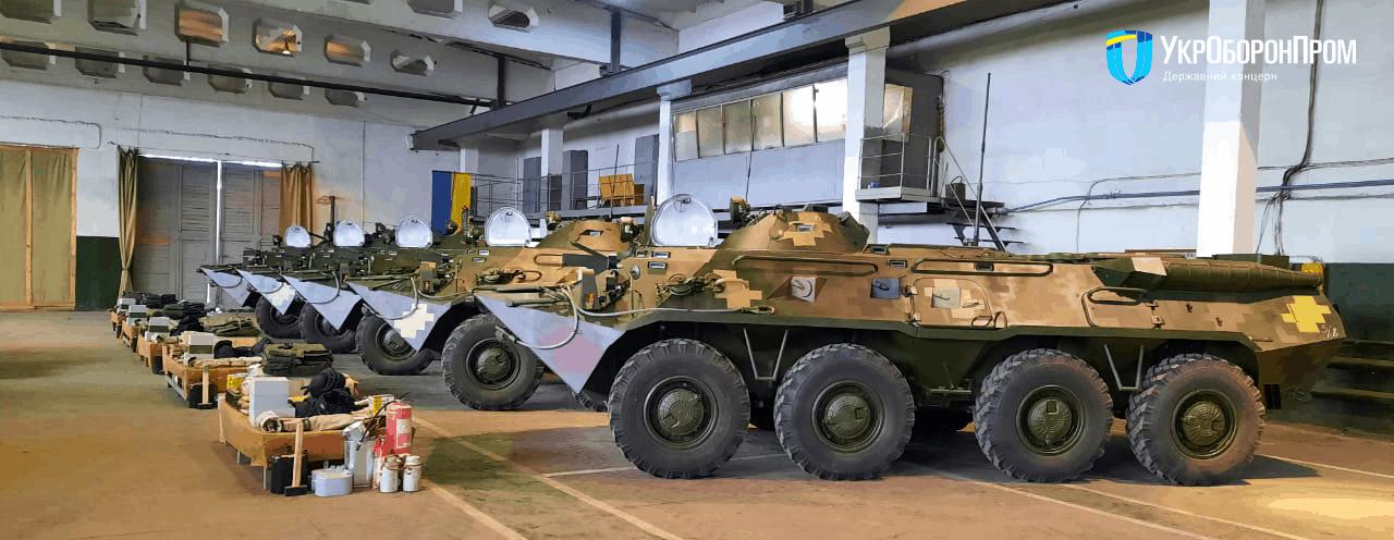 Партія відремонтованих та модернізованих на ДП «Миколаївський бронетанковий завод» бронетранспортерів БТР-80