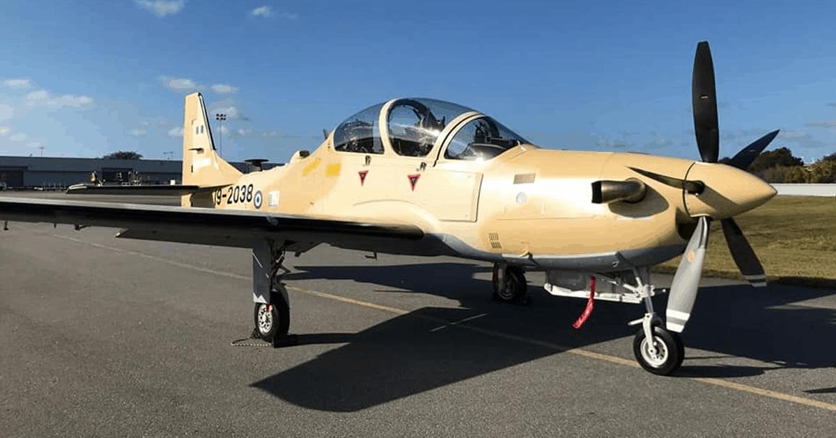 A-29 (EMB-314) «Super Tucano» ВПС Нігерії у США. Листопад 2020. Фото: ЗС Нігерії