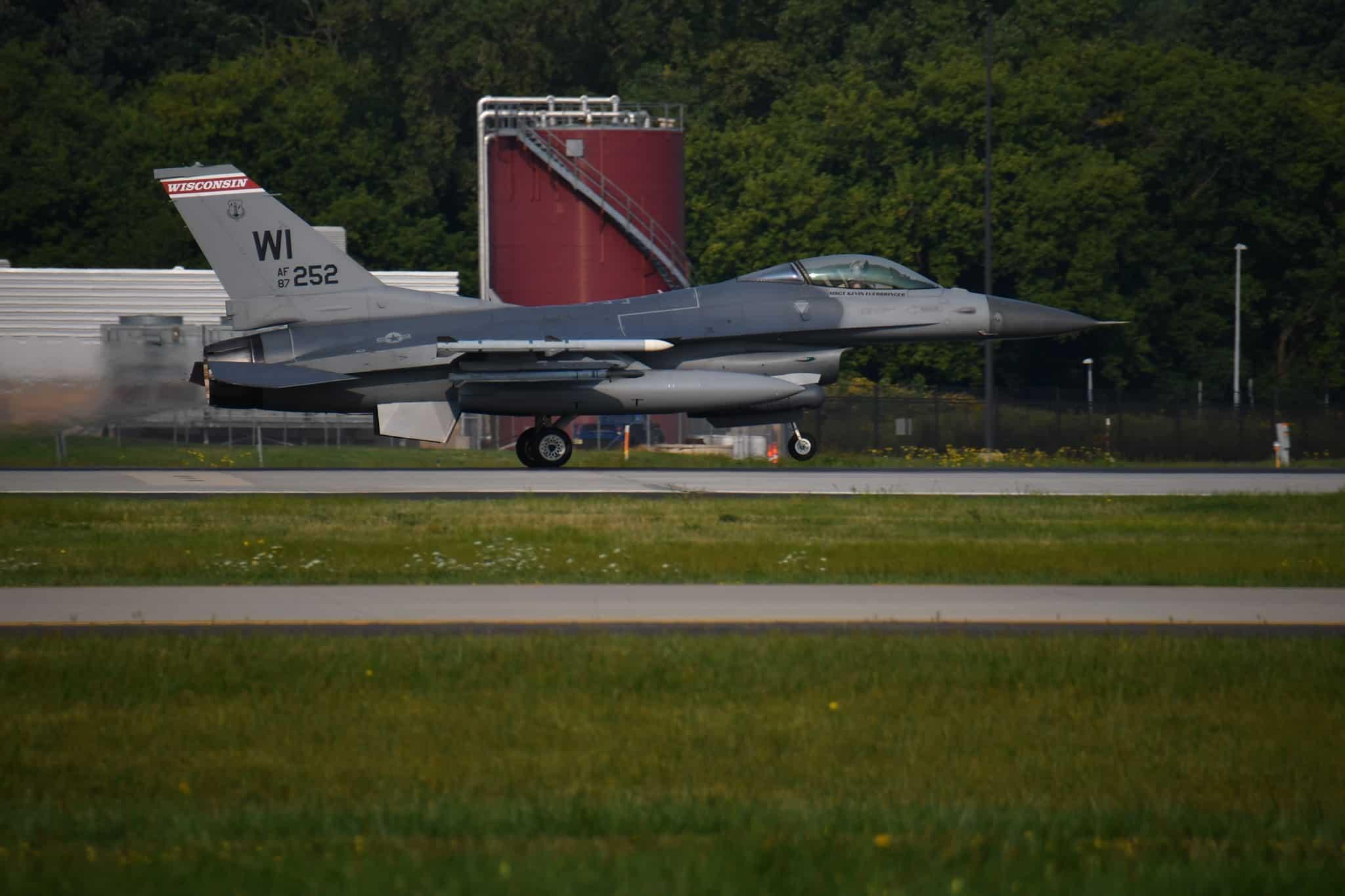 Винищувач F-16 Fighting Falcon. Фото: 115th Fighter Wing