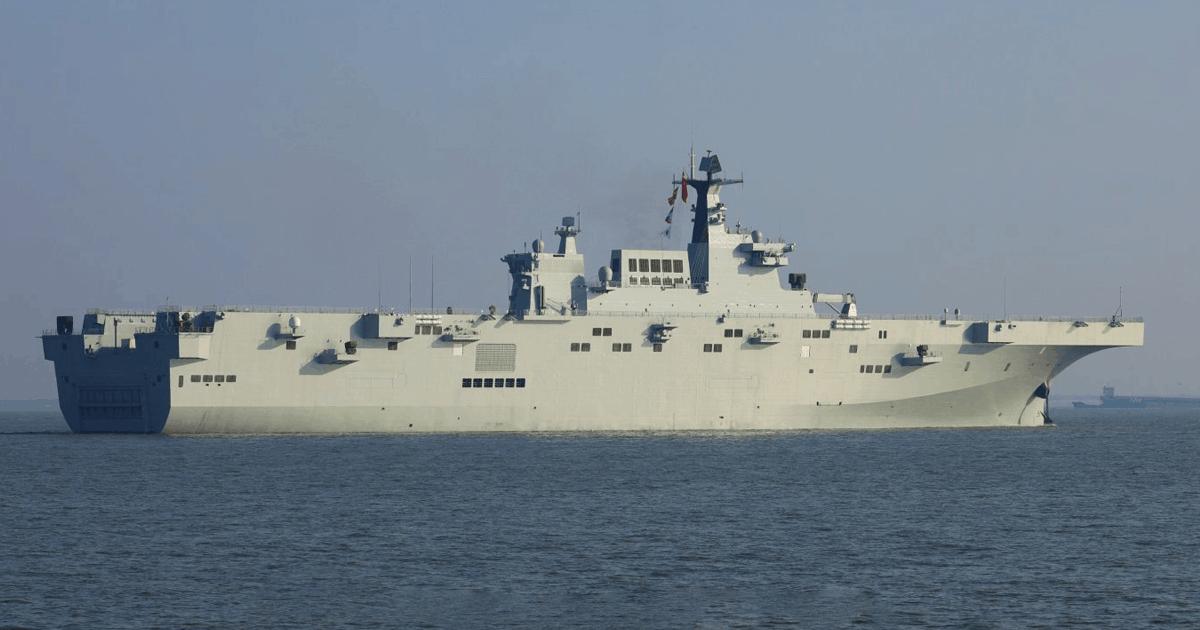 Другий універсальний десантний корабель КНР класу «Type 075». Фото: ЗМІ КНР