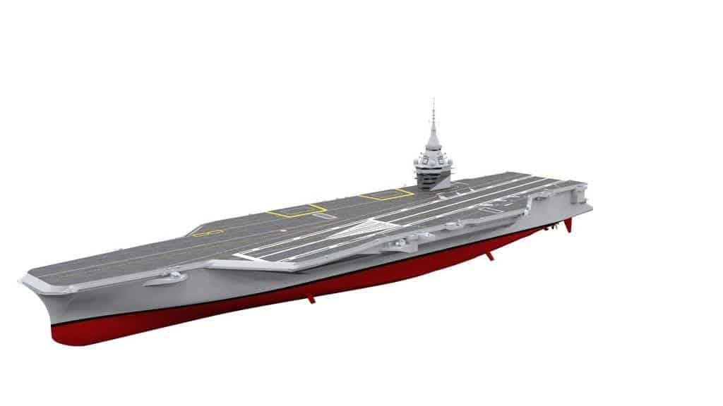 Рендер нового атомного авіаносця Франції. Грудень 2020
