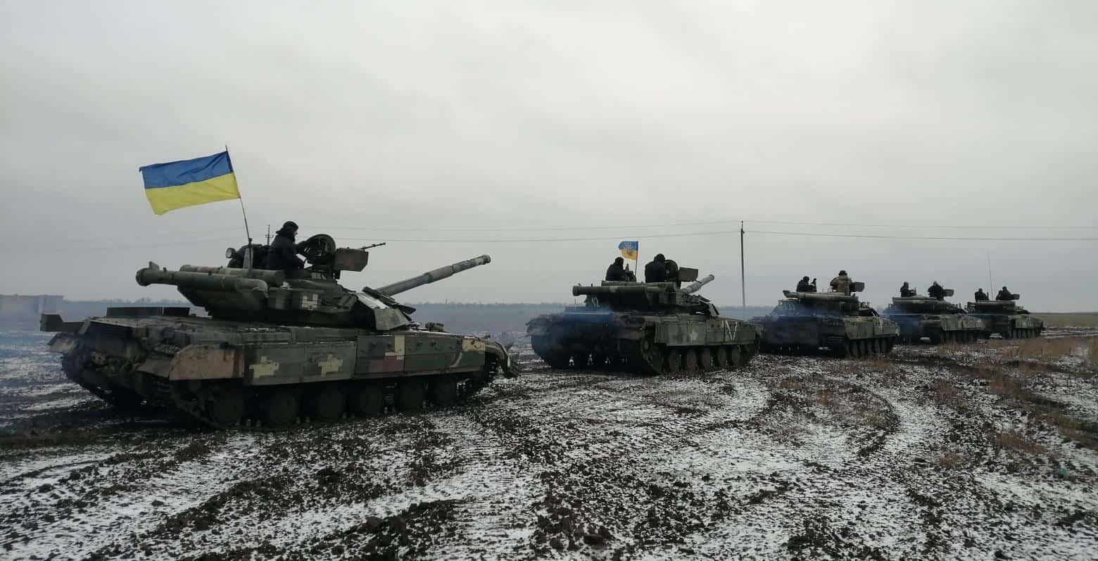 Танки Т-64БМ «Булат» на Херсонщині. Грудень 2020. Фото: ЗСУ