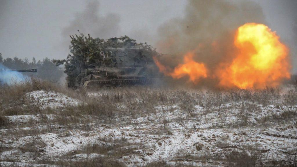 Тренувальні стрільби артилерійських підрозділів 93 ОМБр. Грудень 2020. Фото: ЗСУ