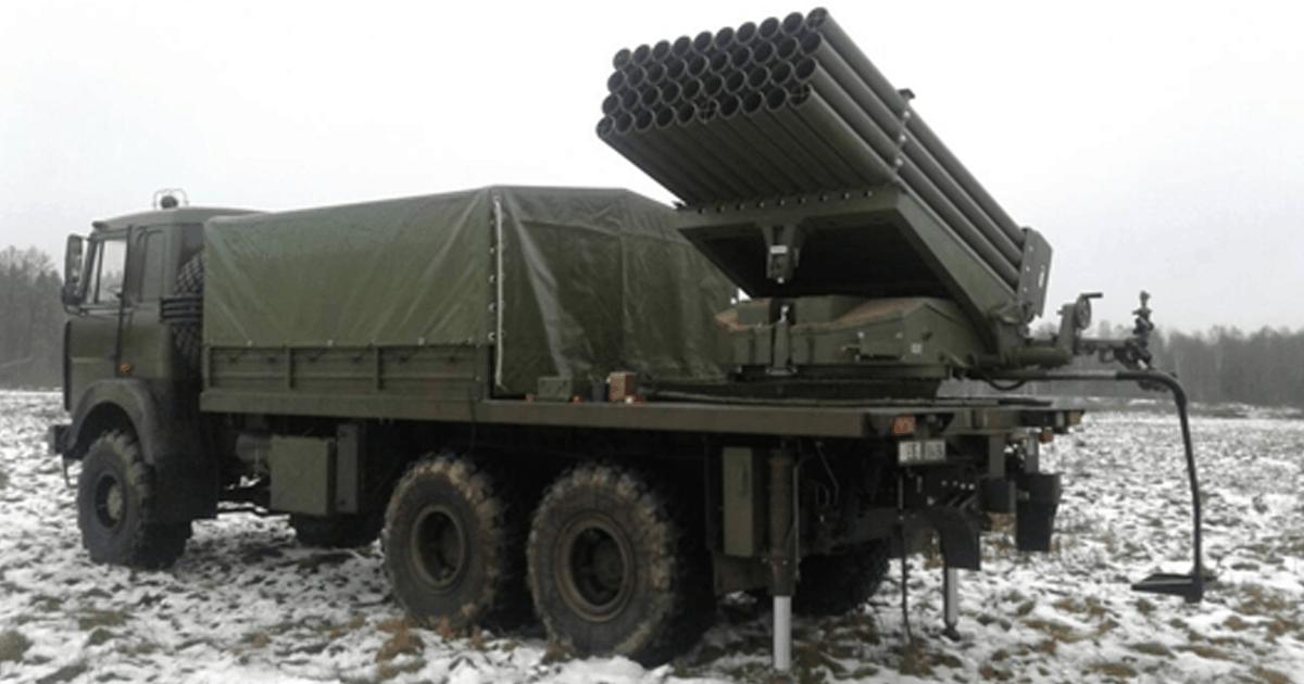 БМ-21Б РСЗВ «БелГрад – 2». Грудень 2020. Фото: ДВПК Білорусі