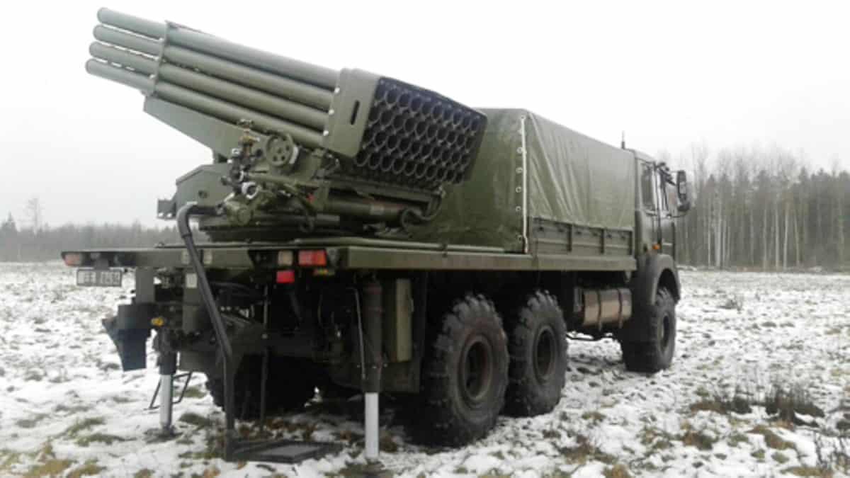 БМ-21Б РСЗВ «БелГрад-2». Грудень 2020. Фото: ДВПК Білорусі