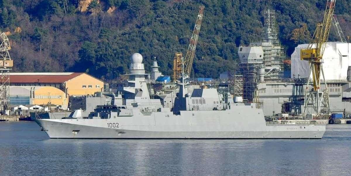 Фрегат FFG 1002 Al-Ghalala ВМС Єгипту типу FREMM. Грудень 2020. Фото: ЗМІ Італії