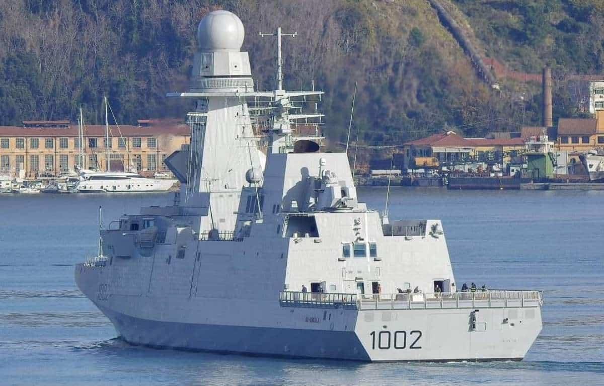 Фрегат FFG 1002 Al-Ghalala ВМС Єгипту типу FREMM. Грудень 2020. Фото: @mahmouedgamal44