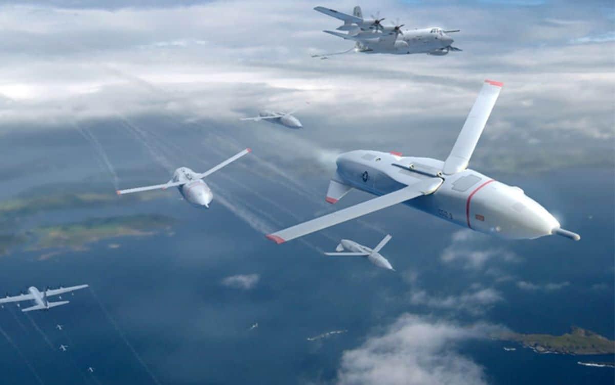 Ілюстрація: Скидання з транспортних літаків безпілотних літальних апаратів